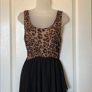 Leopard-Print Hi-Low Dress